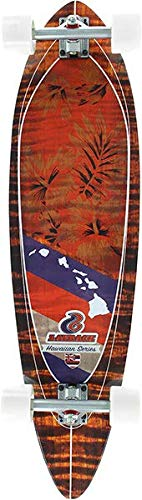 Layback Longboards Hawaiian Fauna Complete Longboard Skateboard - 9.75
