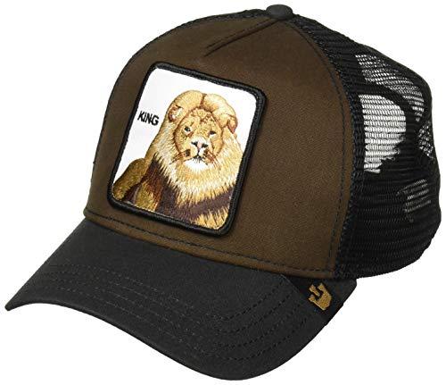 Lions Hats Adjustable - Goorin Bros. Men's Animal Farm Trucker Hat, Brown Lion, One Size