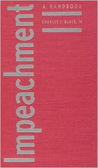 Book Impeachment: A Handbook