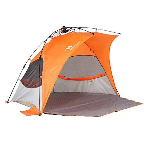 Mobihome Beach Tent Sun Shelter Instant Quick Up, Portable Waterproof Wind-Resistant Beach Tents ...