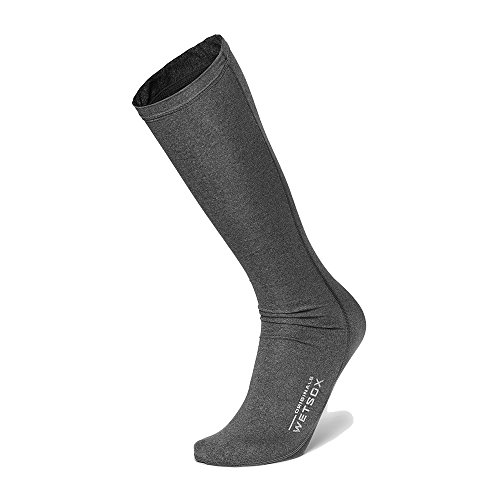 WETSOX Originals Round Toe- The Only Wetsuit/Water Sock Accessory Designed to Reduce Friction, Insulate and Prevent Chafing (Gray, Small)