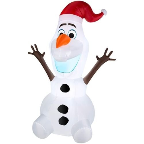 Disney Gemmy Airblown Inflatable Olaf the Snowman Wearing...