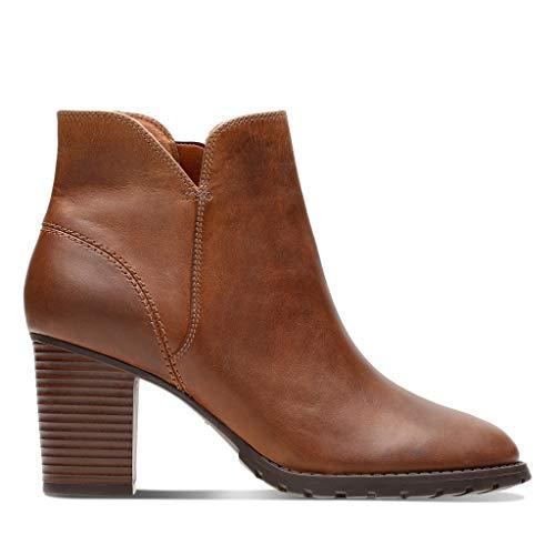 Trish Clarks Verona Brown Dark Lea Tan Boots Women's Slouch ccP6SzO