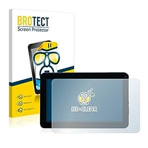 2x BROTECT HD-Clear Protector Pantalla Mediacom SmartPad 10.1 S2 3G M-MP1S2A3G Película Protectora – Transparente, Anti-Huellas