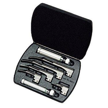 Welch Allyn 68696 Fiber Optic Laryngoscope Set with Case Miller #0 1 2 3 4