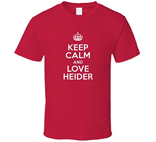 Heider Keep Calm and Love Parody Custom Name T Shirt 2XL Red