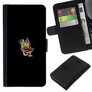 // PHONE CASE GIFT // Moda Estuche Funda de Cuero Billetera Tarjeta de crédito dinero bolsa Cubierta de proteccion Caso Sony Xperia M2 / Poke Mosnter Duck /
