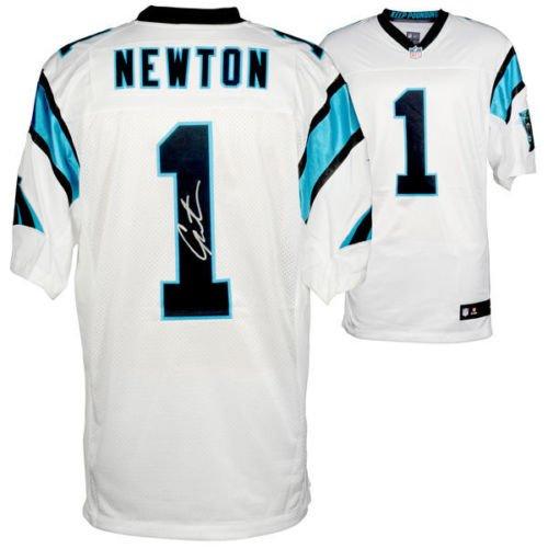 CAM NEWTON Autographed Carolina Panthers Elite Nike White Jersey FANATICS ()