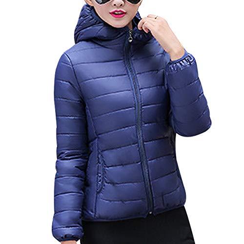 Blu Moda Kindoyo Cappuccio Giacche Corto Imbottito Addensare Con Inverno Donna Scuro Cappotto Caldo Trapuntato Piumino Giacca xqnqXwTZ