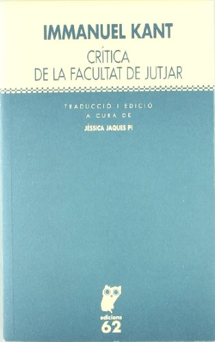 Crítica de la facultat de jutjar (Textos Filosòfics) por Immanuel Kant