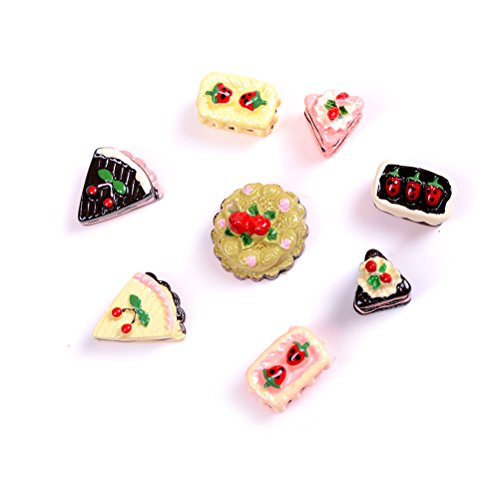 Kitchen Food Cakes Dollhouse Miniature 1//12 8pcs//Set