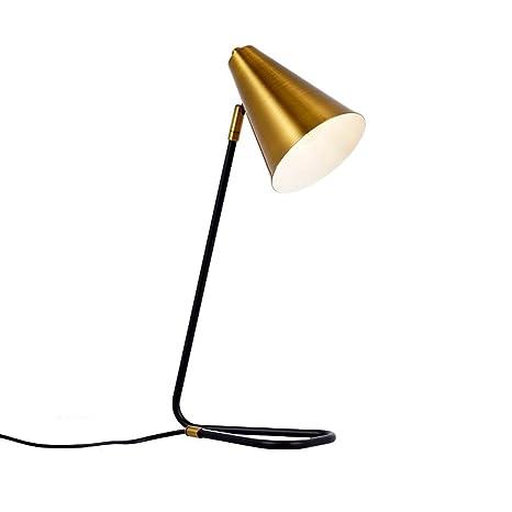 WandaElite Lámpara de mesa de oro E27 nórdica dormitorio lámpara ...