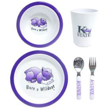 NCAA Kansas State Wild Cats Children's Dinner Set