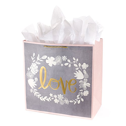 - Hallmark Grand Gift Bag with Tissue Paper (Love Wedding Flowers)