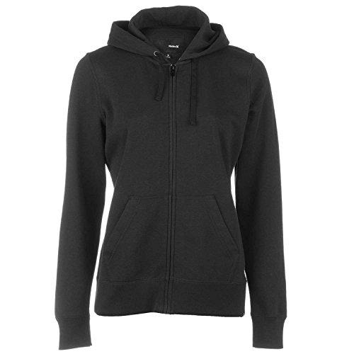 Hurley Women's Solid Icon Zip Fleece Black Sweatshirt XS ...