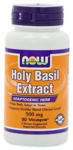 NOW Foods Holy Basil Extract , 500mg, 90 Vcaps