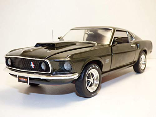 (1969 Ford Mustang Boss 429 Black Jade Muscle Car & Corvette Nationals (MCACN) Limited Edition to 1002 Pieces Worldwide 1/18 Diecast Model Car by Autoworld)