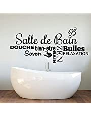Large Bathroom French Shower Bubble Wall Sticker Bathtub Zen Relaxation soap Wall Sticker Toilet Toilet Vinyl Home Decor 130x59cm