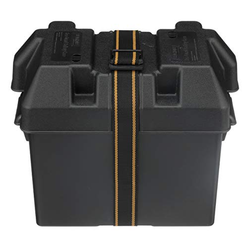 (SEACHOICE 22080 USCG-Approved Marine Group 27 Series Standard Battery Box with Strap & Mounting Kit)