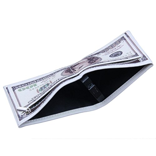 SMYTShop Men Wallet,US Dollar Bill Wallet PU Leather Credit Card Photo Holder Bifold Billfold
