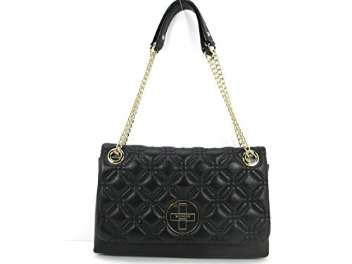 Kate Spade Cynthia Astor Court Quilted Leather Black WKRU 2650 (Leather Black Chain Shoulder Bag Link)