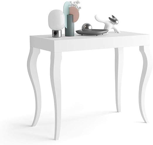 Mobili Fiver, Mesa Consola Extensible Classico, Blanco Mate, 45 x ...