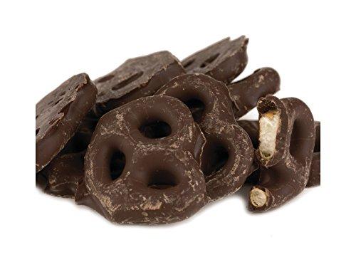 Chocolate and Yogurt Covered Pretzels, 1 Lbs, Dark Chocolate