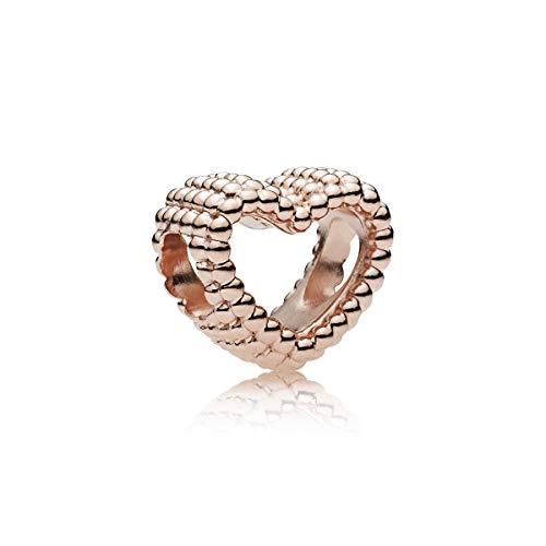 PANDORA Beaded Heart Rose Charm - 787516