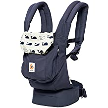 Ergobaby Original Award Winning Ergonomic Multi-Position Baby Carrier with Lumbar Support, Marine