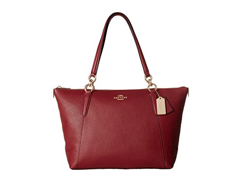 COACH Women's Crossgrain Ava Tote Im/Black Cherry One Size by Coach