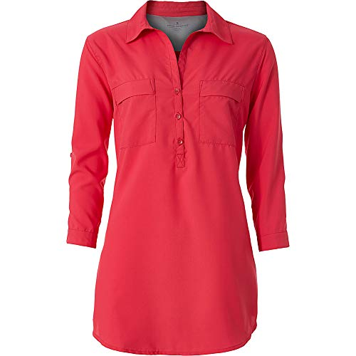 Royal Robbins Women's Expedition Dry Stretch Tunic, Rose Red, ()