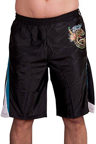 Ed Hardy Mens Sweat Pants Shorts - Black - Medium Ed Hardy Mens Clothing