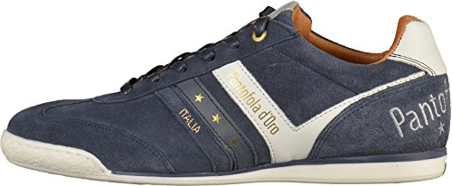 Herren Enorme Gouden Muiltje Suede Sneaker Laag Man Blau