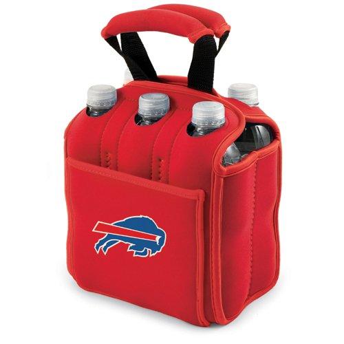 NFL Digital Print Six Pack Beverage Carrier NFL Team: Buffalo Bills, Color: Red