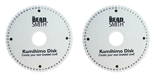 You get TWO (2) 64 SLOT Kumihimo Disks for using up to 40 strings! Extra Thick Foam for fine Threads, Wire & Beaded Kumihimo (Best Thread For Beaded Kumihimo)
