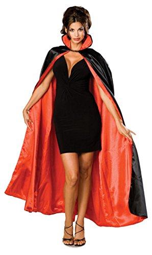Vampire Cape (Rubie's Costume Long Satin Cape,Black/Red,One Size Costume)