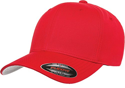 Flex Fit Visor - Premium Original Blank Flexfit V-Flexfit Cotton Twill Fitted Hat Cap Flex Fit 5001 Large / Xlarge - Red