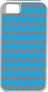 HTC One M7 Case Case For HTC One M7 Cover Customized Gifts Cover Zigzag Wave Design Sky Blue and Dark GrIdeal Gift