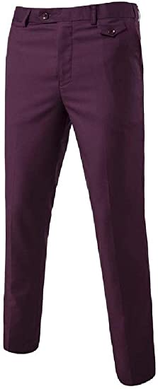 Romancly Men's Casual Classic-Fit Wrinkle-Resistant Pleated No-Iron Work Pant
