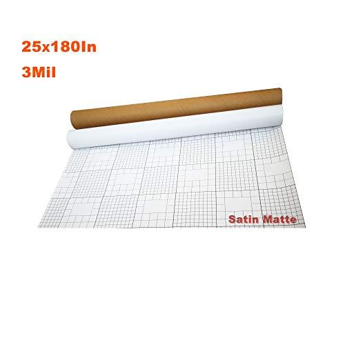 Cold Laminating - E-Found Satin Matte 25 x 180 Inch 0.7 x 5 Yards 3 Mil Cold Laminating Film UV Luster Vinyl for Laminator School Film