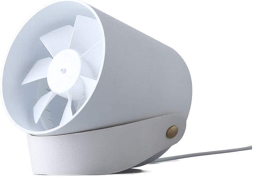 YANGYA USB Mini Desk Fans Handheld Small Light and Quiet Portable Wire Control Reverse Leaf Fan for Home Office Dorm Travel Outdoor-White