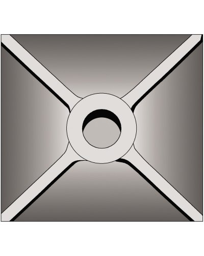 Bosch Plate - Bosch HS1828 5-InchX 5-Inch Tamper Plate (Requires Seperate Shank)