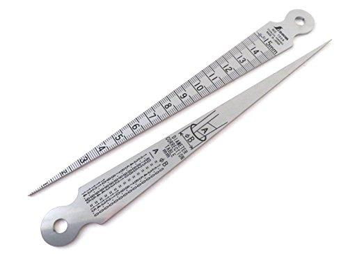 Shinwa 15 mm Taper Gauge Stainless Hadened Steel ()