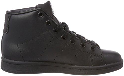 adidas Stan Smith Mid J, Zapatillas de Deporte Unisex Adulto Negro (Negbas/Negbas/Negbas 000)