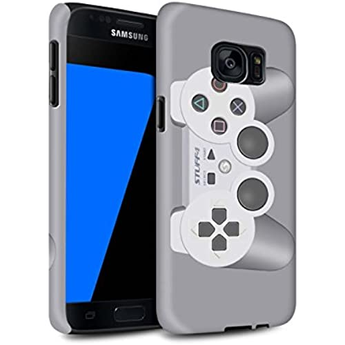 STUFF4 Matte Tough Shock Proof Phone Case for Samsung Galaxy S7/G930 / Playstation PS1 Design / Games Console Collection Sales