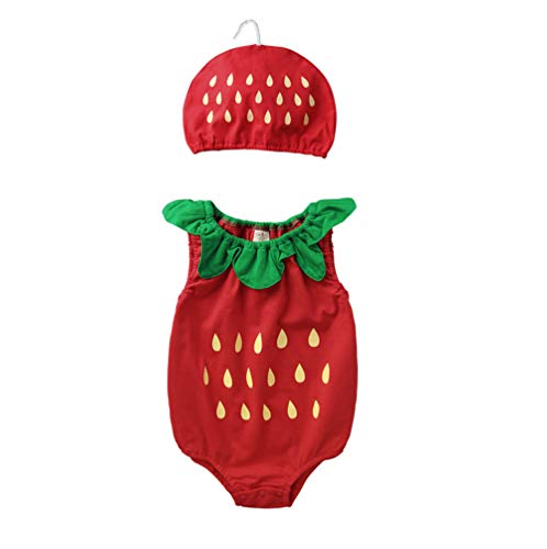 Baby Photography Props Photo Shoot Outfits Newborn Infant Summer Clothes(Pink 6-12month)]()