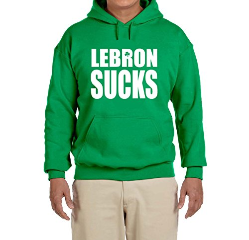 Peg Leg Shirts Green Boston Lebron Sucks Hooded Sweatshirt Youth Large