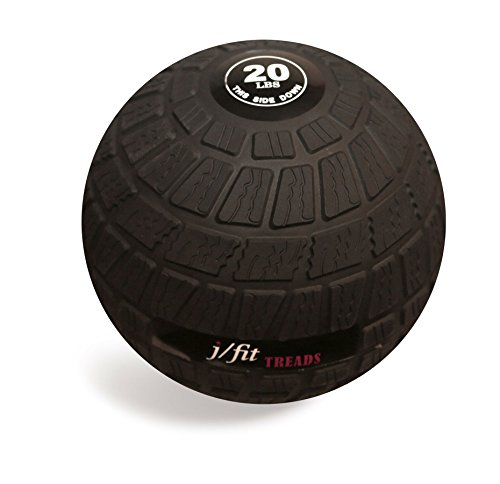 j/fit TREADS Dead Weight Slam Ball with Easy-Grip Textured Surface, 20 lb