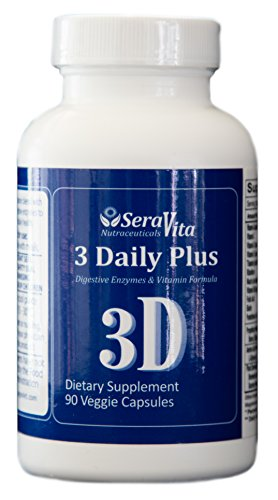 SeraVita 3 Daily Plus (Multi Vitamin, Enzyme and Amino-acid Blend) 90 Veggie Capsules