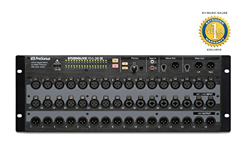 PreSonus StudioLive RML32AI 32-channel, 25-bus Rackmount Active Integration Digital Mixer with 1 Year Free Extended Warranty